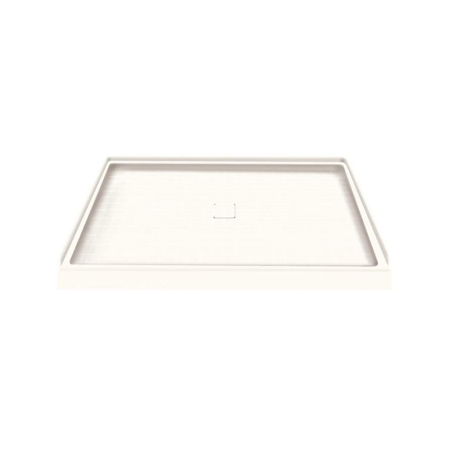Style Selections White Solid Surface Shower Base (Common: 34-in W x 48-in L; Actual: 34-in W x 48-in L)