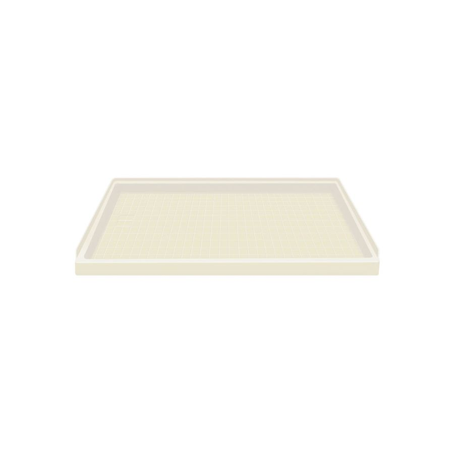 Style Selections Biscuit Solid Surface Shower Base (Common: 32-in W x 60-in L; Actual: 32-in W x 60-in L)
