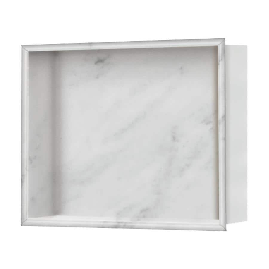 Shop Style Selections White Carrara Shower Wall Shelf At