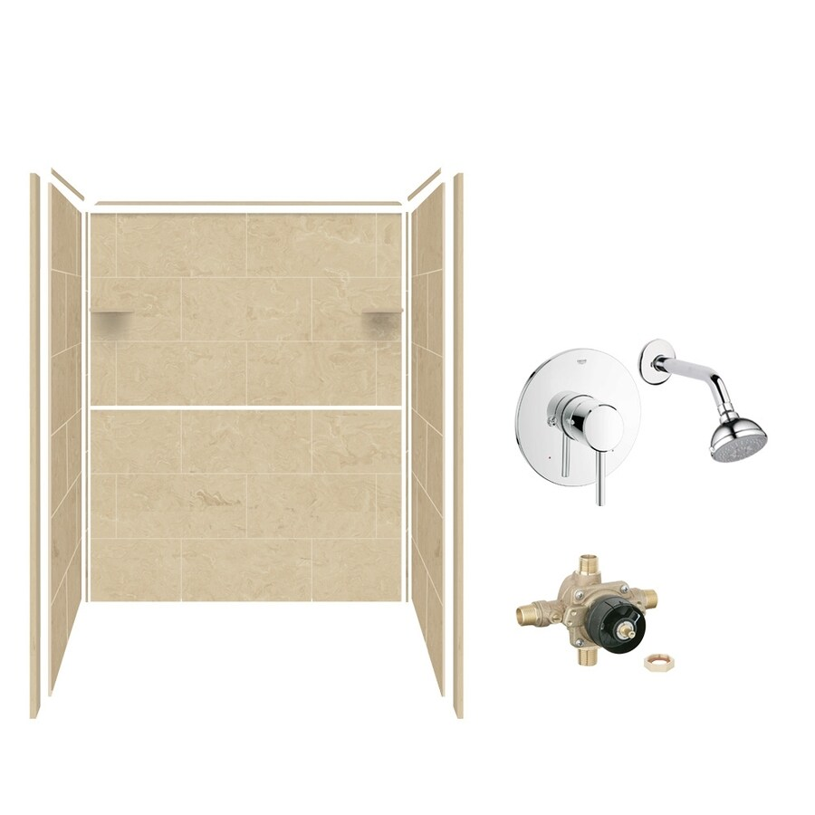 Style Selections Almond Sky Shower Wall Surround Side and Back Panels (Common: 36-in; Actual: 72-in x 36-in)
