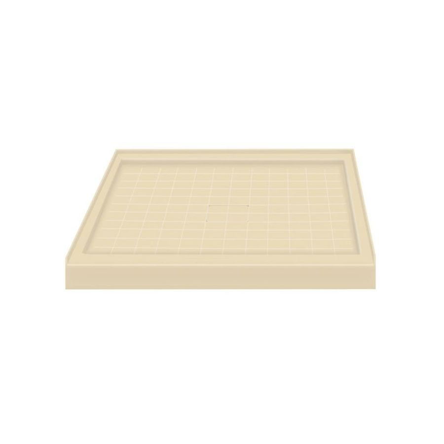 Transolid Almond Solid Surface Shower Base (Common: 36-in W x 36-in L; Actual: 36-in W x 36-in L)