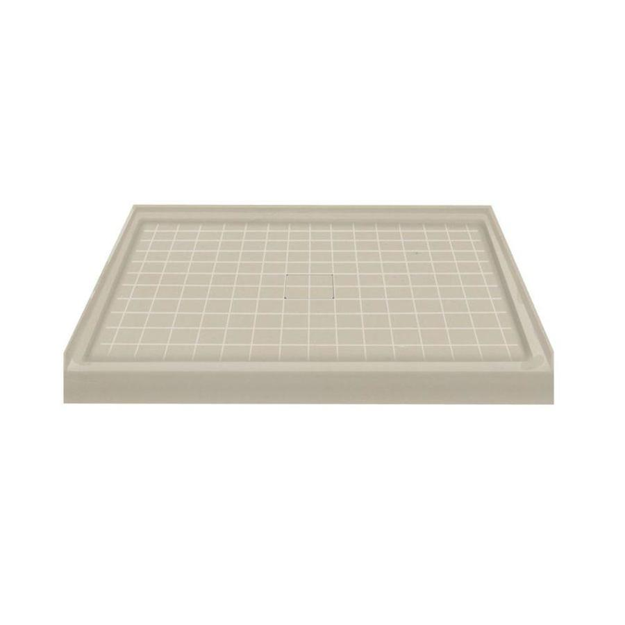 Transolid Sand Solid Surface Shower Base (Common: 48-in W x 34-in L; Actual: 48-in W x 34-in L)
