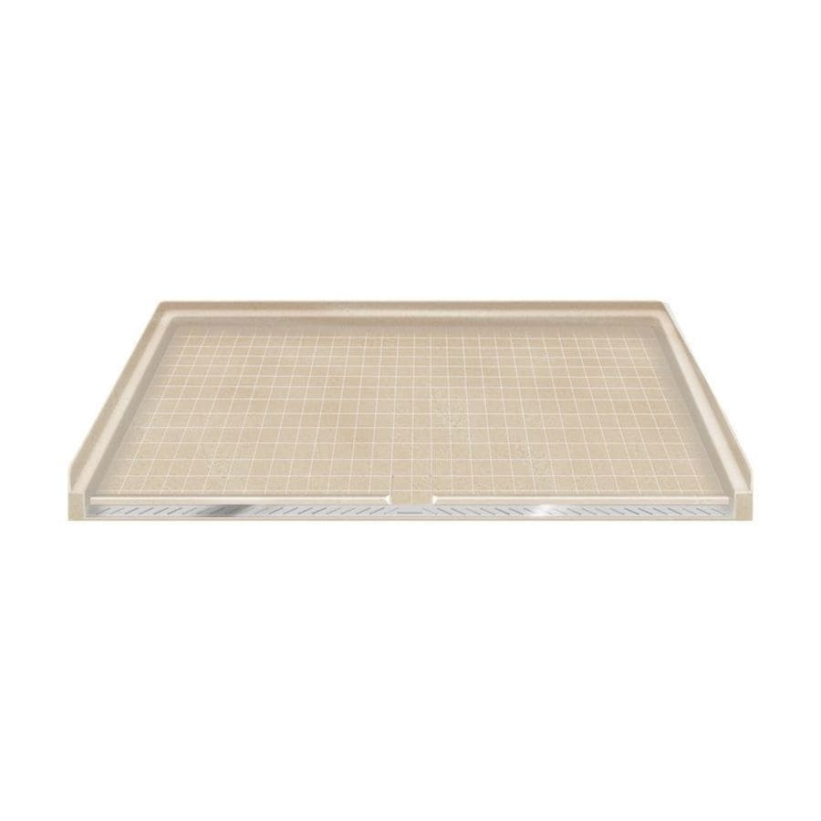 Transolid Sand Solid Surface Shower Base (Common: 64-in W x 38-in L; Actual: 63.5-in W x 37.75-in L)