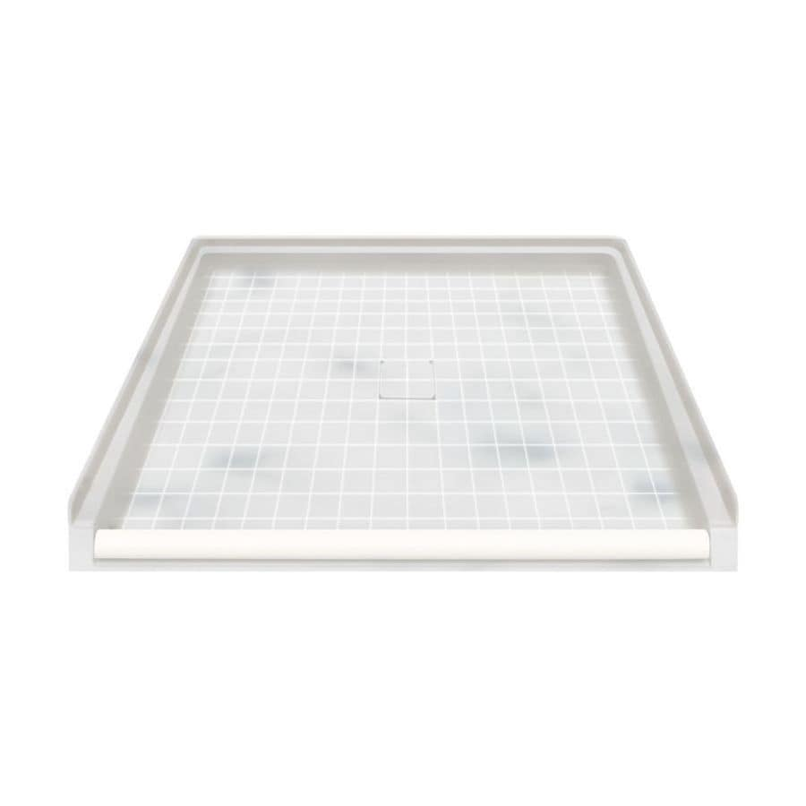 Transolid Storm Solid Surface Shower Base (Common: 40-in W x 38-in L; Actual: 39.5-in W x 37.75-in L)