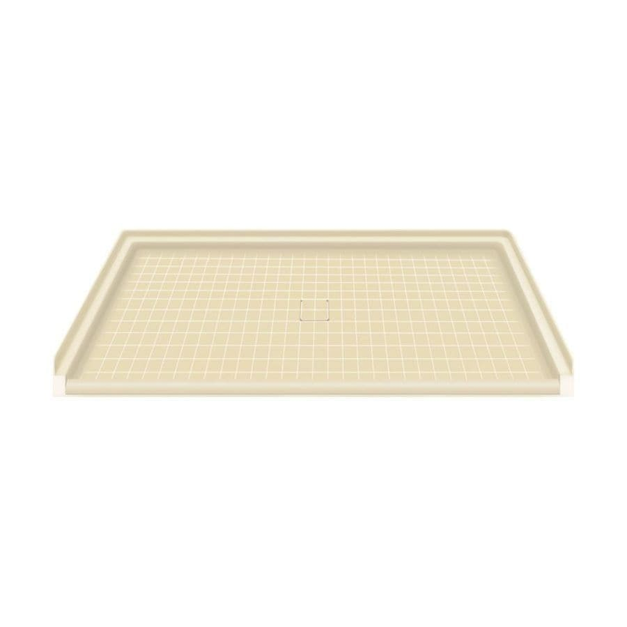 Transolid Almond Solid Surface Shower Base (Common: 64-in W x 38-in L; Actual: 63.5-in W x 37.75-in L)