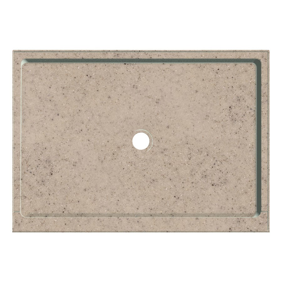 Transolid Desert Earth Fiberglass and Plastic Composite Shower Base (Common: 32-in W x 48-in L; Actual: 32-in W x 48-in L)