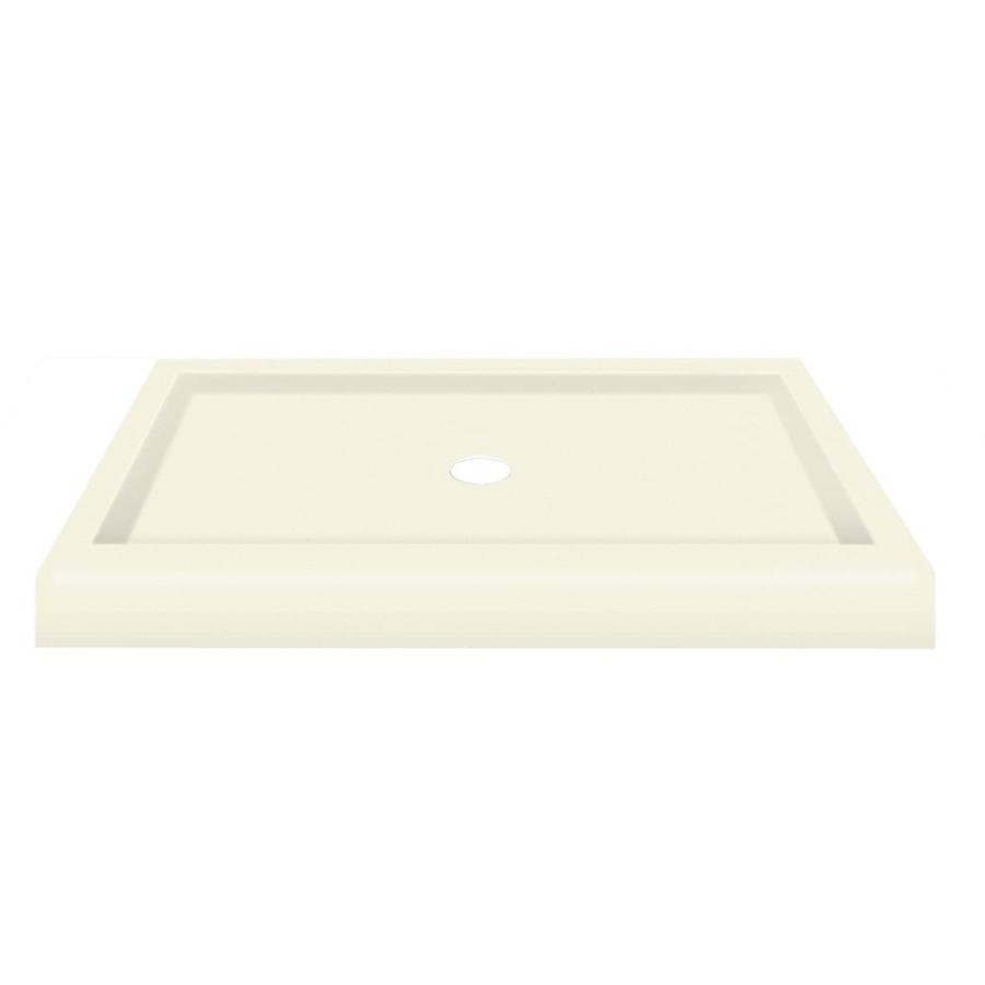 Transolid Biscuit Fiberglass and Plastic Composite Shower Base (Common: 32-in W x 48-in L; Actual: 32-in W x 48-in L)