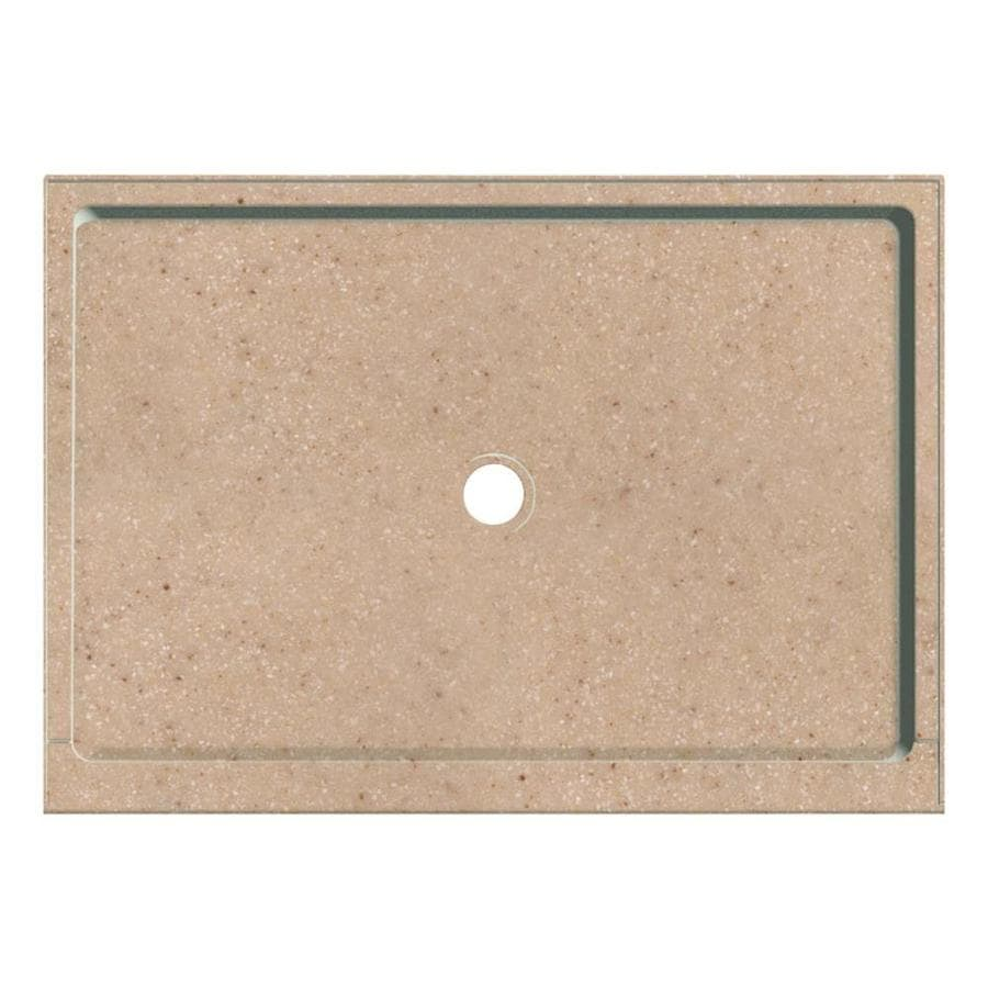 Transolid Sand Castle Fiberglass and Plastic Composite Shower Base (Common: 32-in W x 48-in L; Actual: 32-in W x 48-in L)