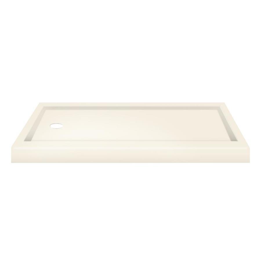 Transolid Cream Fiberglass and Plastic Composite Shower Base (Common: 32-in W x 60-in L; Actual: 32-in W x 60-in L)