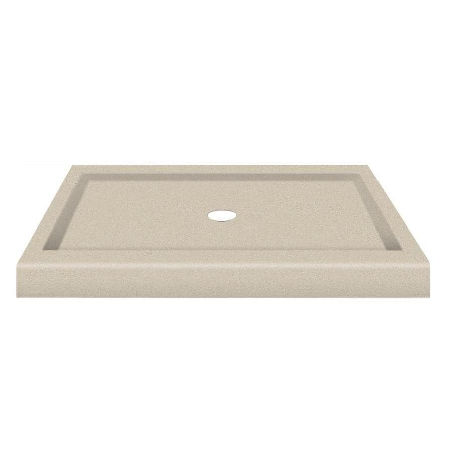 Transolid Desert Earth Fiberglass and Plastic Composite Shower Base (Common: 34-in W x 48-in L; Actual: 34-in W x 48-in L)