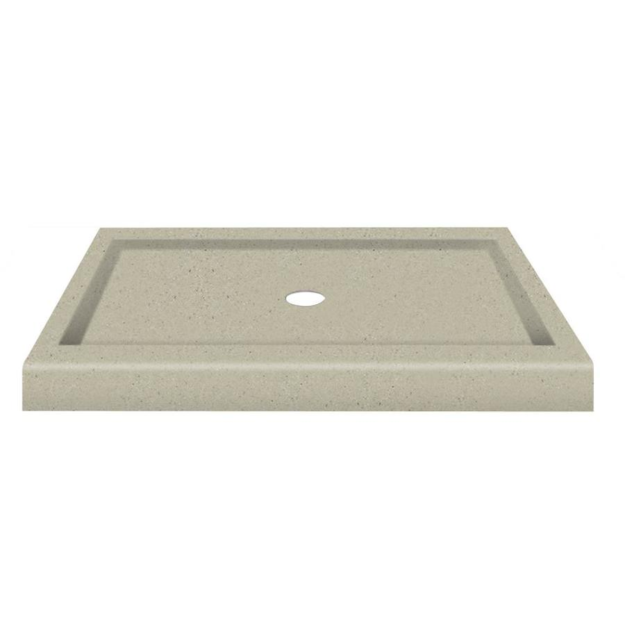 Transolid Peppered Sage Fiberglass and Plastic Composite Shower Base (Common: 34-in W x 48-in L; Actual: 34-in W x 48-in L)