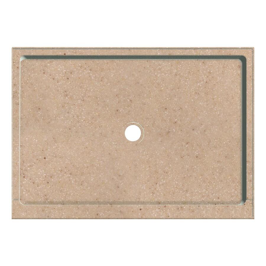 Transolid Sand Castle Fiberglass and Plastic Composite Shower Base (Common: 34-in W x 48-in L; Actual: 34-in W x 48-in L)