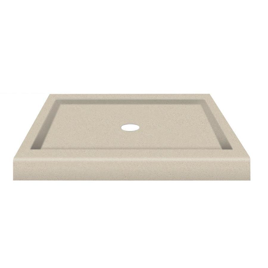 Transolid Decor Solid Surface Composite Corner Shower Base