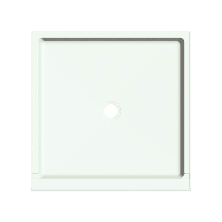Transolid Snow Fiberglass and Plastic Composite Shower Base (Common: 36-in W x 36-in L; Actual: 36-in W x 36-in L)