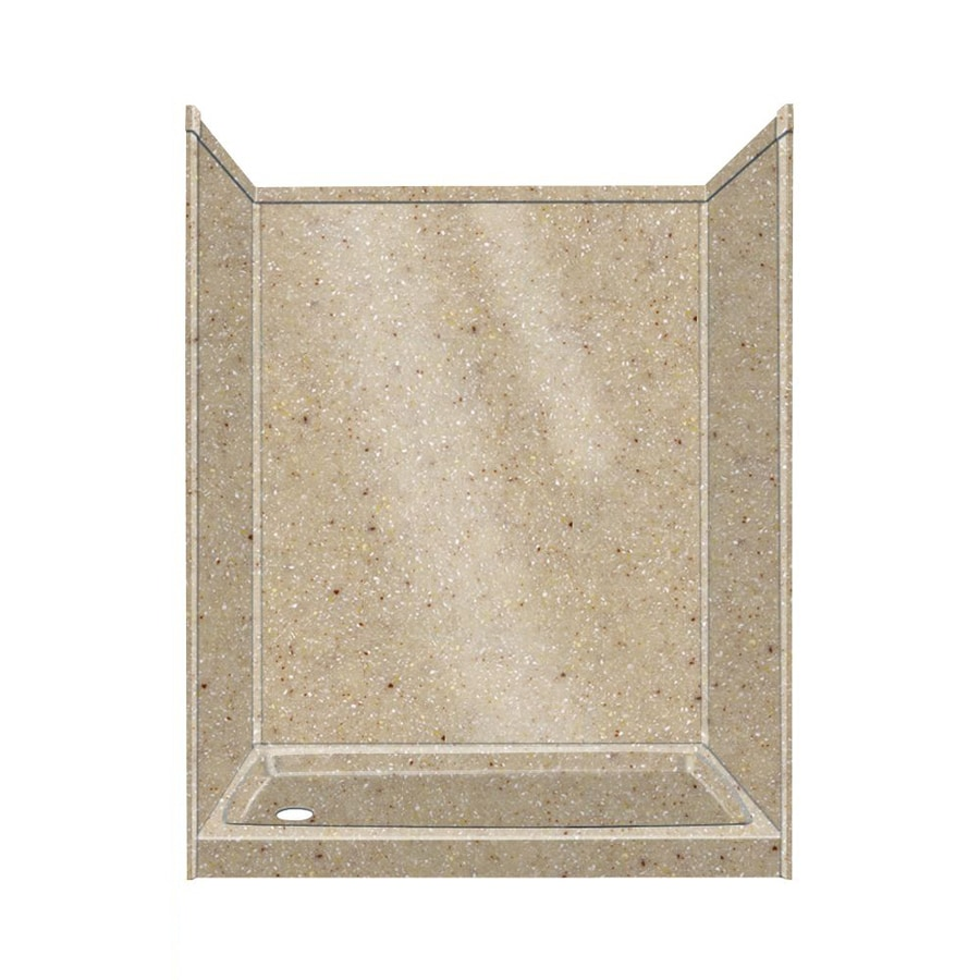Transolid Decor Decor Sand Castle Compostie Wall and Floor 5-Piece Alcove Shower Kit (Common: 32-in x 60-in; Actual: 72-in x 32-in x 60-in)