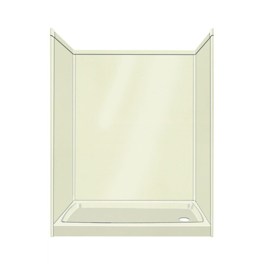 Transolid Decor Decor Biscuit/Buff Compostie Wall and Floor 5-Piece Alcove Shower Kit (Common: 32-in x 60-in; Actual: 72-in x 32-in x 60-in)