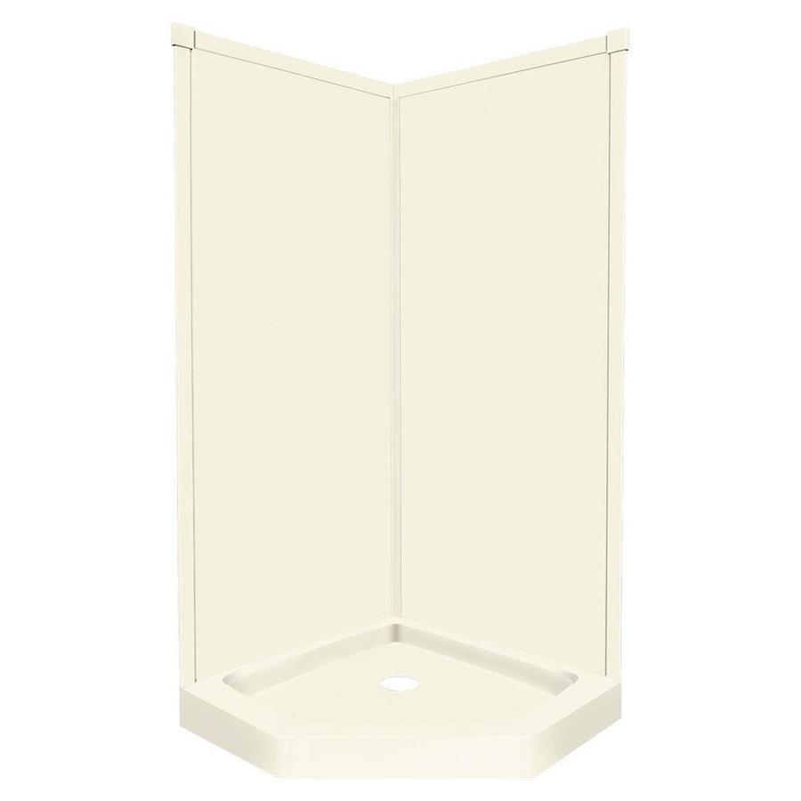Transolid Decor Biscuit Corner Shower Kit (Actual: 72-in x 42-in x 42-in)