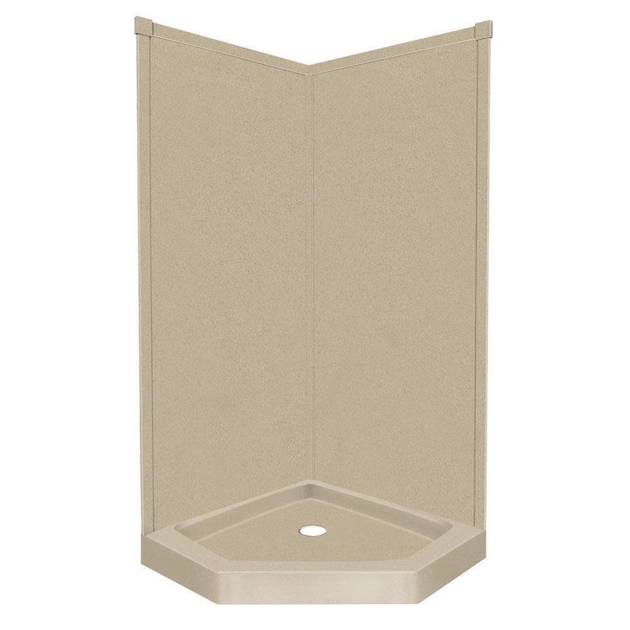 Transolid Decor Matrix Khaki Corner Shower Kit (Actual: 72-in x 36-in x 42-in)