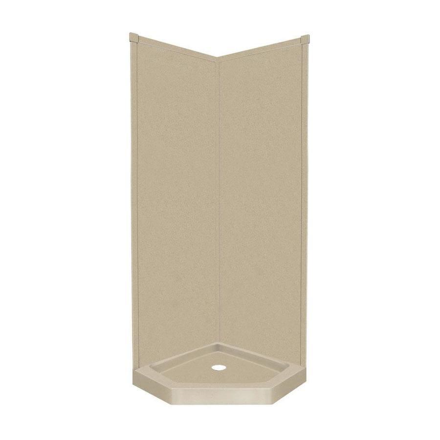 Transolid Decor Matrix Sand Corner Shower Kit (Actual: 96-in x 42-in x 42-in)