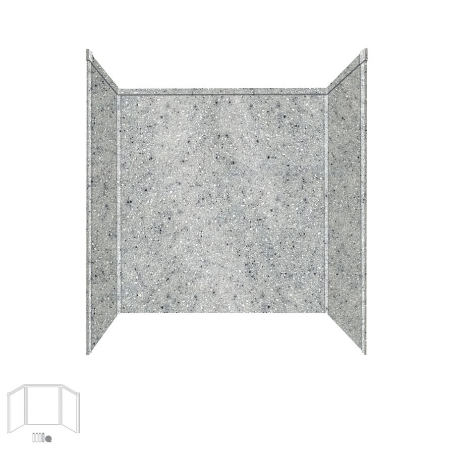Transolid Decor Matrix Dusk/Stone Shower Wall Surround Side and Back Panels (Common: 32-in; Actual: 60-in x 32-in)