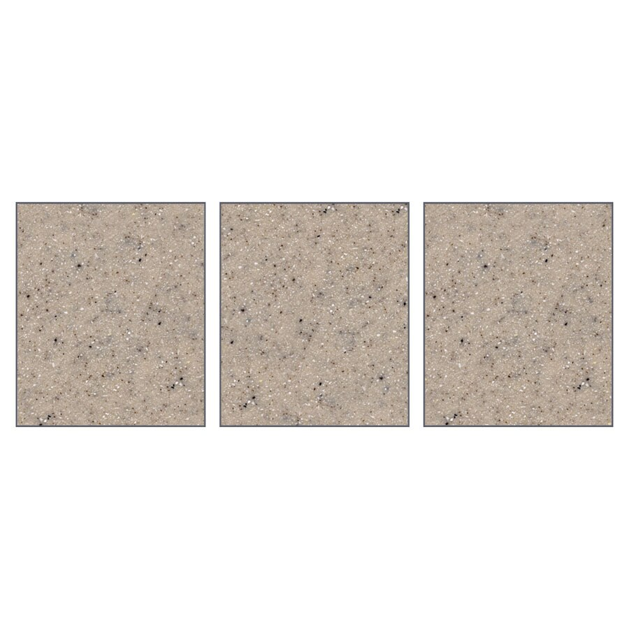 Transolid Decor Sand Castle Shower Wall Surround Side Panel (Common: 0.25-in; Actual: 72-in x 0.25-in)