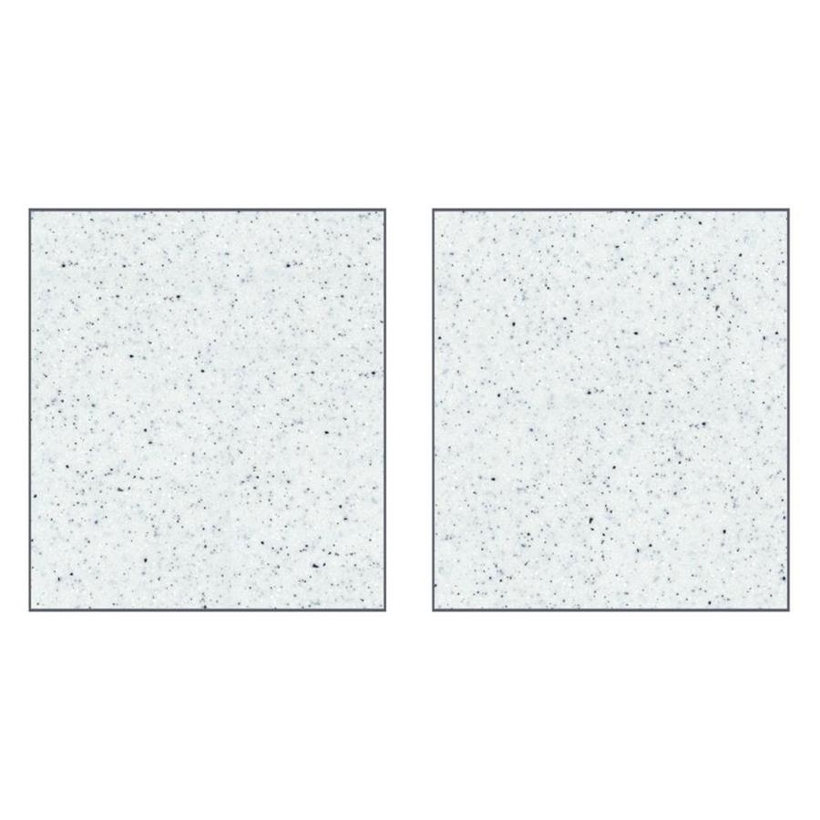 Transolid Decor Matrix White/Speckled White Shower Wall Surround Side Panel (Common: 0.25-in; Actual: 72-in x 0.25-in)