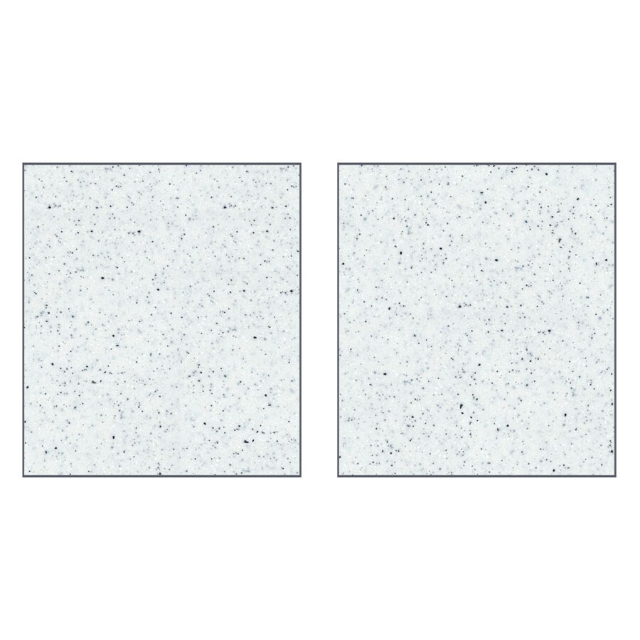Transolid Decor Matrix White/Speckled White Shower Wall Surround Side Panel (Common: 0.25-in; Actual: 96-in x 0.25-in)