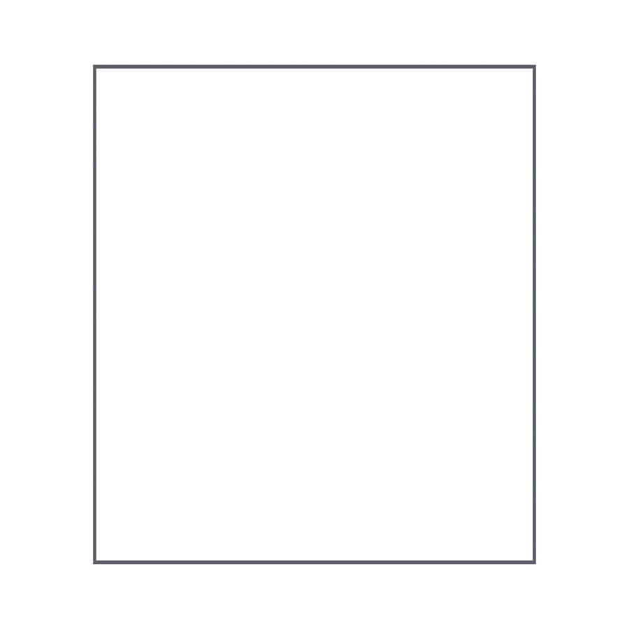 Transolid Decor White/Snow Shower Wall Surround Back Panel (Common: 0.25-in; Actual: 72-in x 0.25-in)
