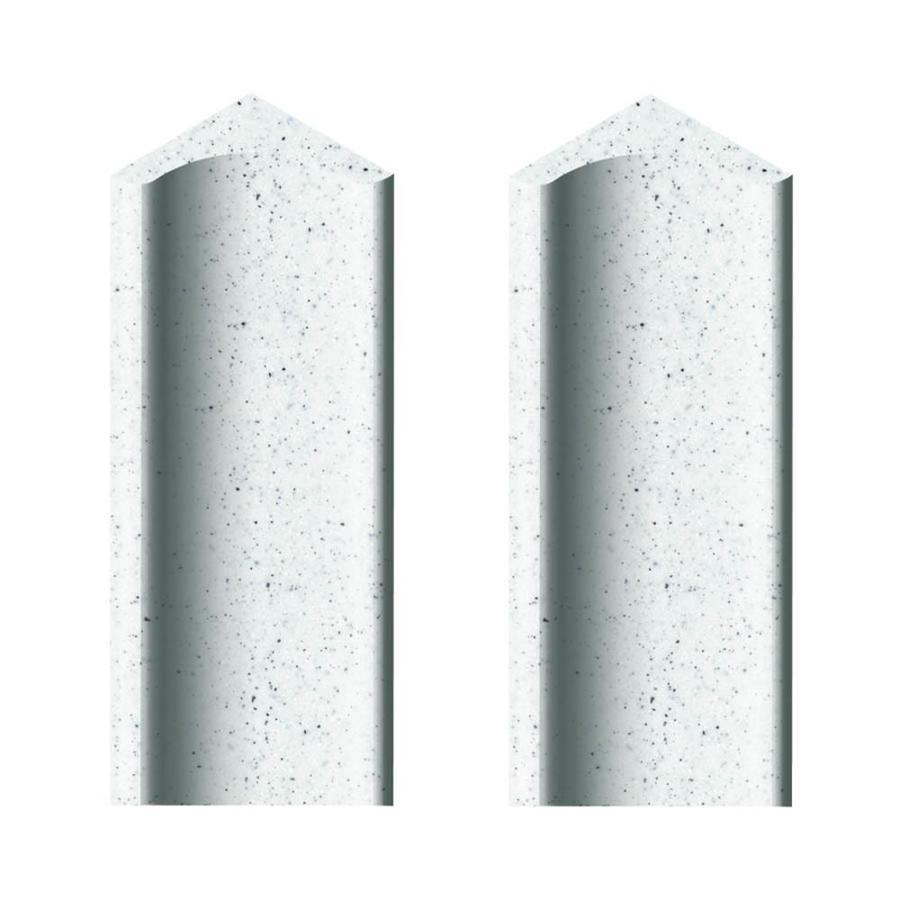 Transolid Decor Matrix White Shower Wall Corner Cove Piece