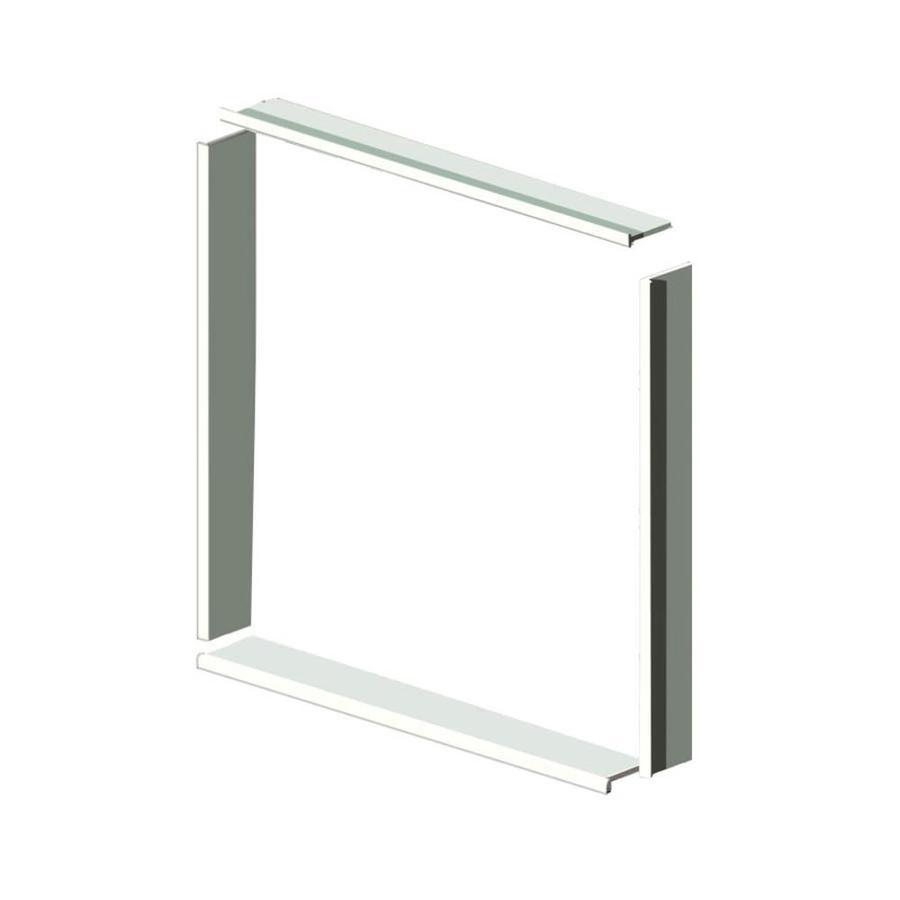 Transolid Decor White Shower Wall Window Trim Kit