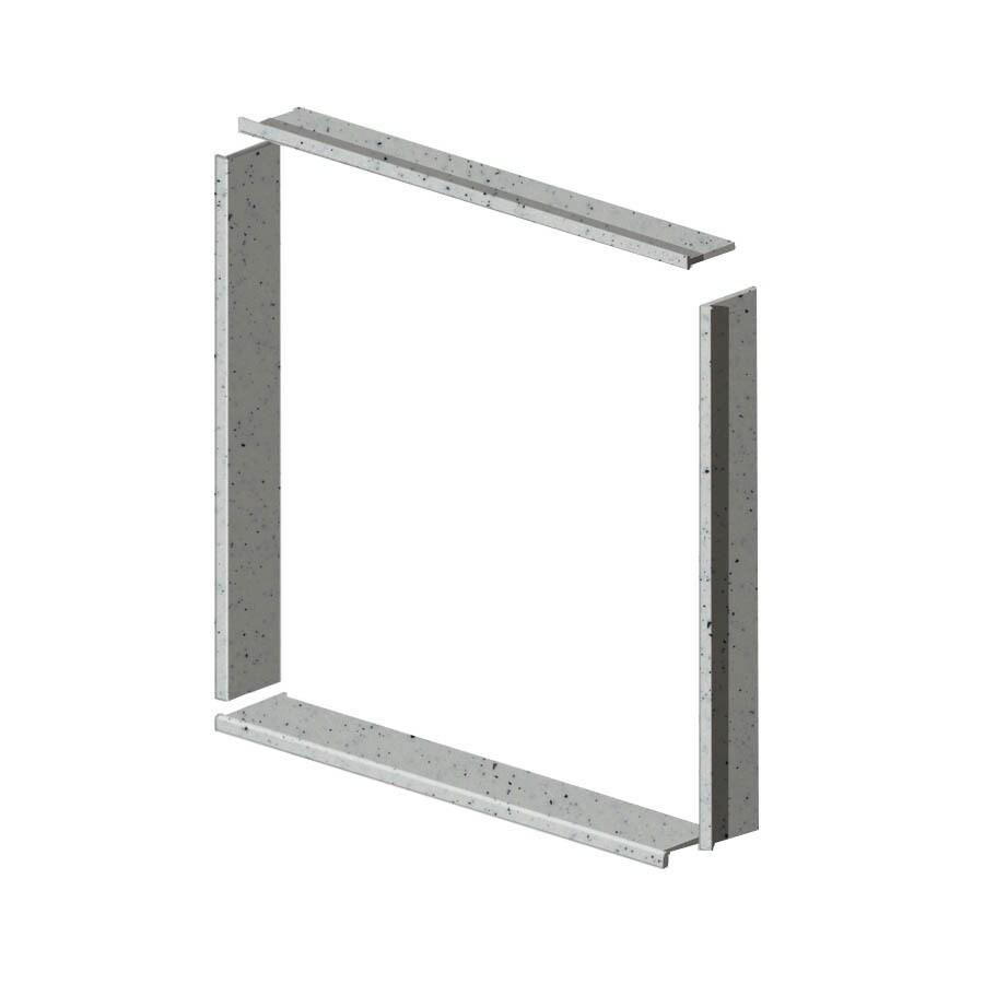 Transolid Decor Matrix White Shower Wall Window Trim Kit