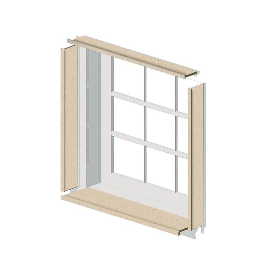 Transolid Decor Matrix Khaki Sand Shower Wall Window Trim Kit
