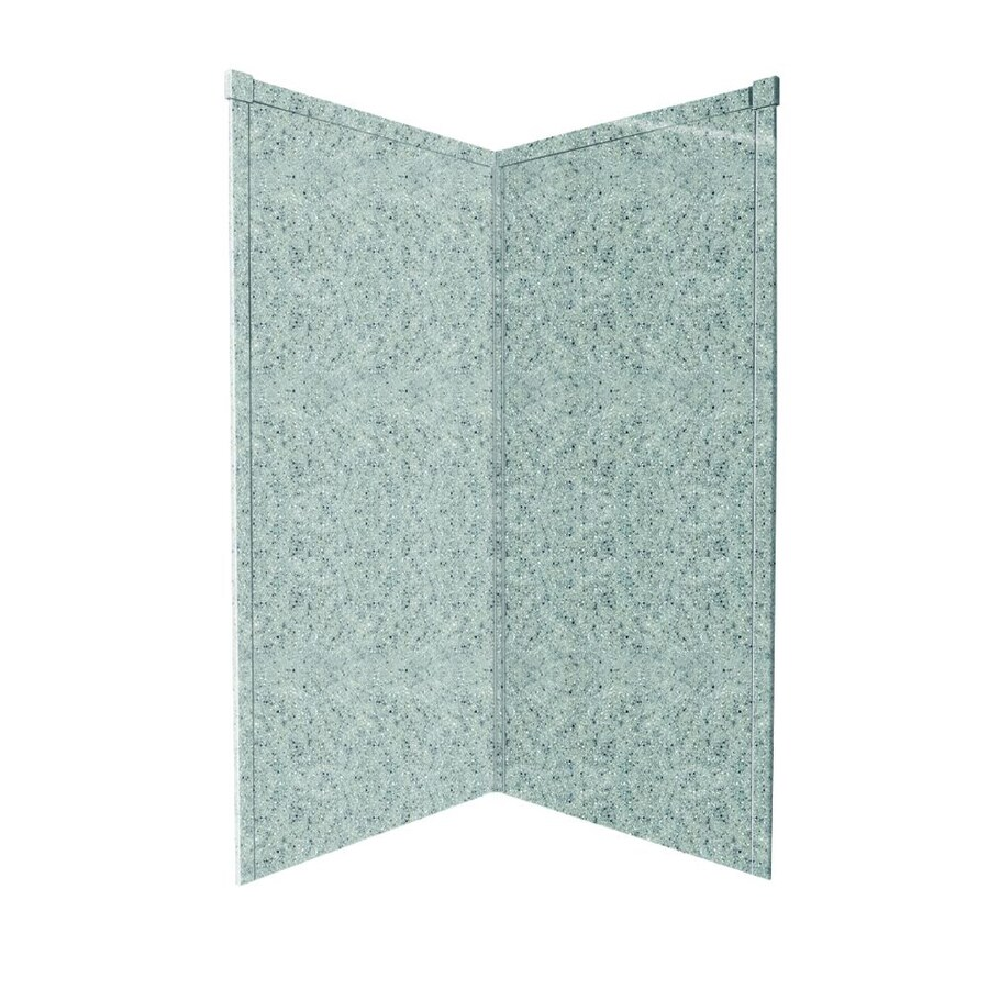 Transolid Decor Matrix Dusk/Stone Shower Wall Surround Corner Wall Panel (Common: 36-in; Actual: 72-in x 36-in)