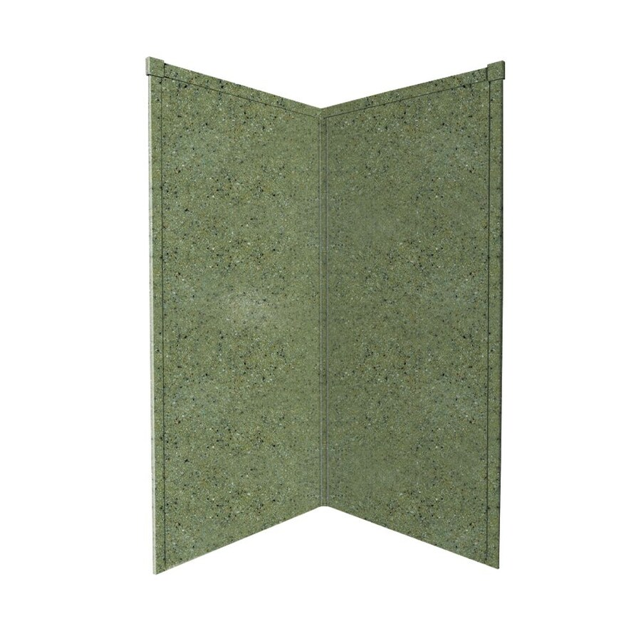 Transolid Decor Peppered Sage Shower Wall Surround Corner Wall Panel (Common: 36-in; Actual: 72-in x 36-in)