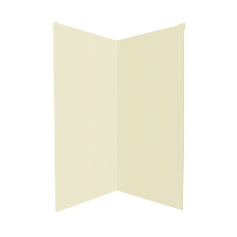 Transolid Decor Biscuit/Buff Shower Wall Surround Corner Wall Panel (Common: 36-in; Actual: 72-in x 36-in)