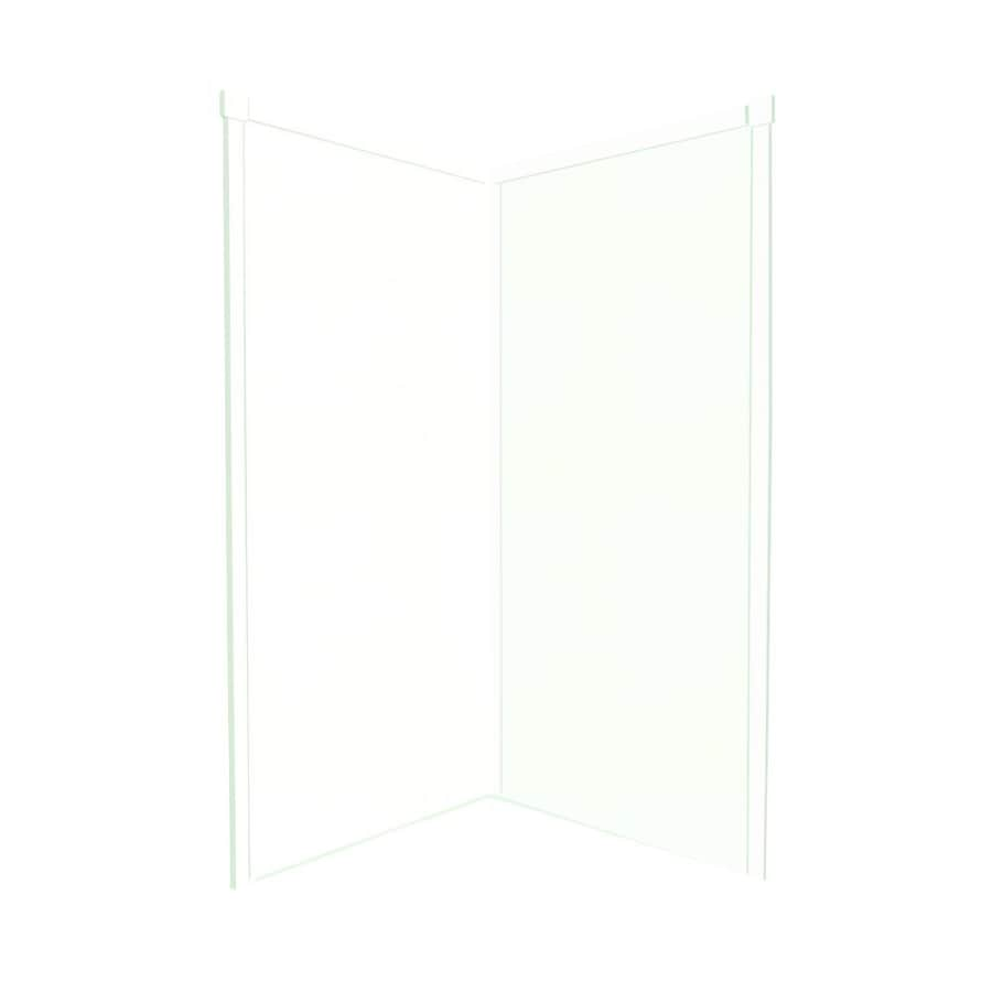 Transolid Decor White/Snow Shower Wall Surround Corner Wall Panel (Common: 42-in; Actual: 72-in x 42-in)