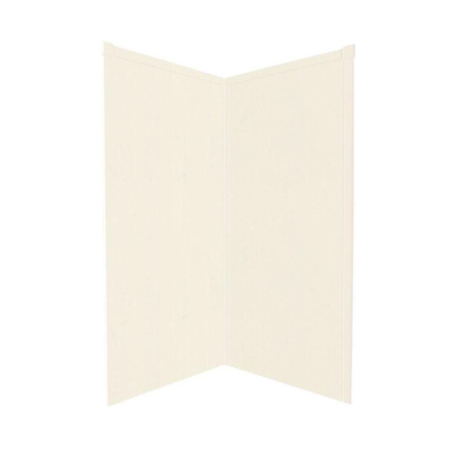 Transolid Decor Cameo/Cream Shower Wall Surround Corner Wall Panel (Common: 42-in; Actual: 72-in x 42-in)