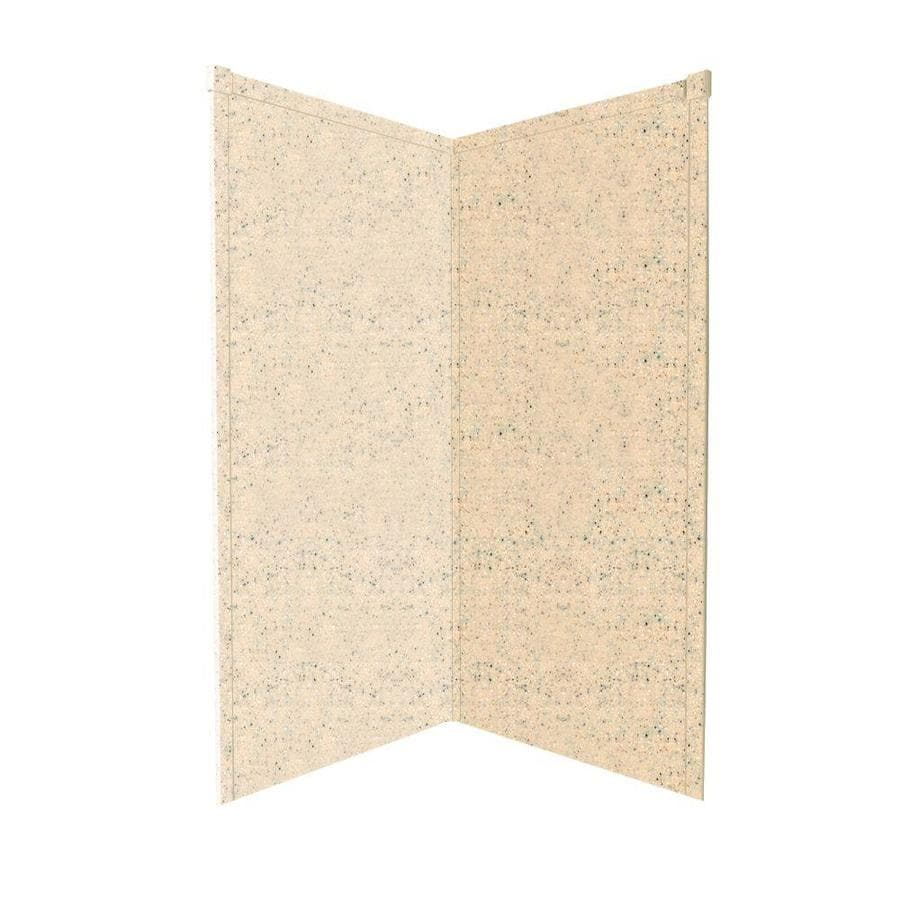 Transolid Decor Matrix Khaki/Sunset Sand Shower Wall Surround Corner Wall Panel (Common: 42-in; Actual: 72-in x 42-in)