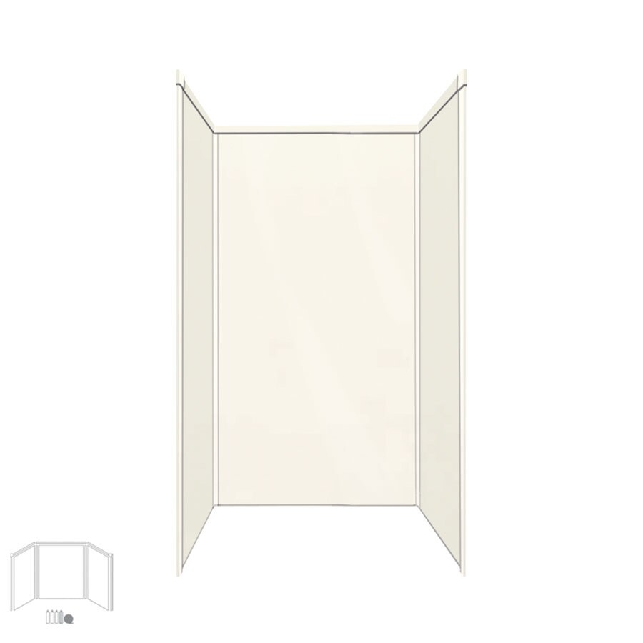 Transolid Decor Cameo/Cream Shower Wall Surround Side and Back Panels (Common: 32-in; Actual: 72-in x 32-in)