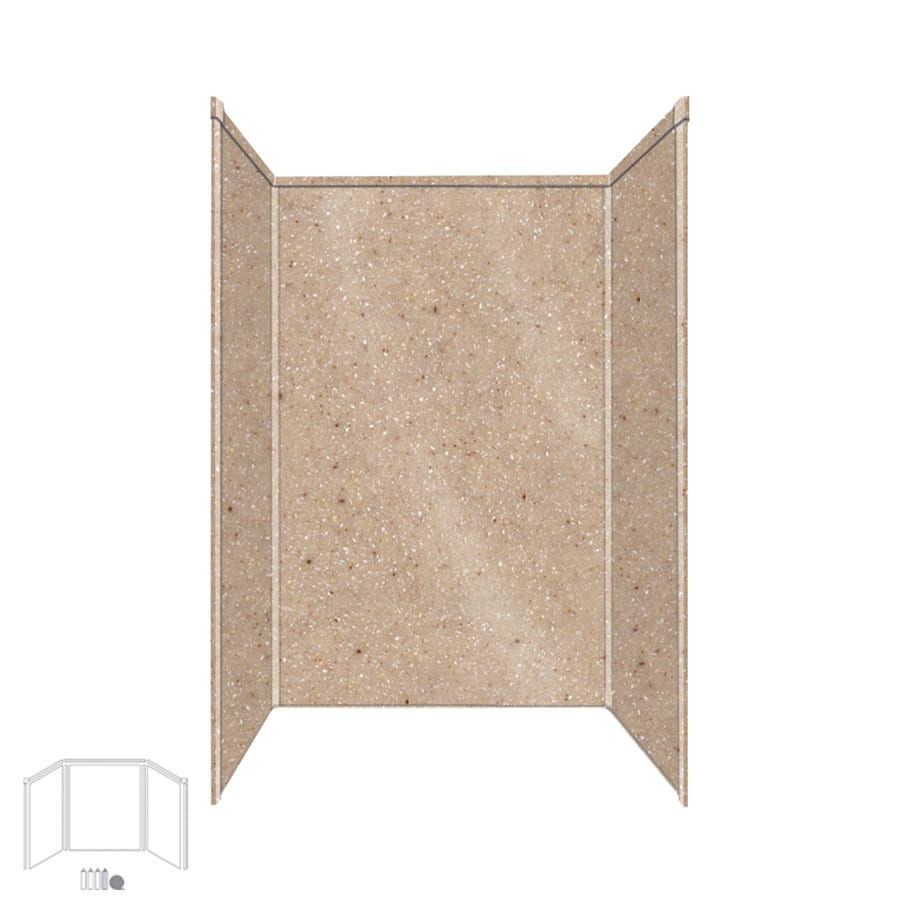 Transolid Decor Sand Castle Shower Wall Surround Side and Back Panels (Common: 32-in; Actual: 72-in x 32-in)