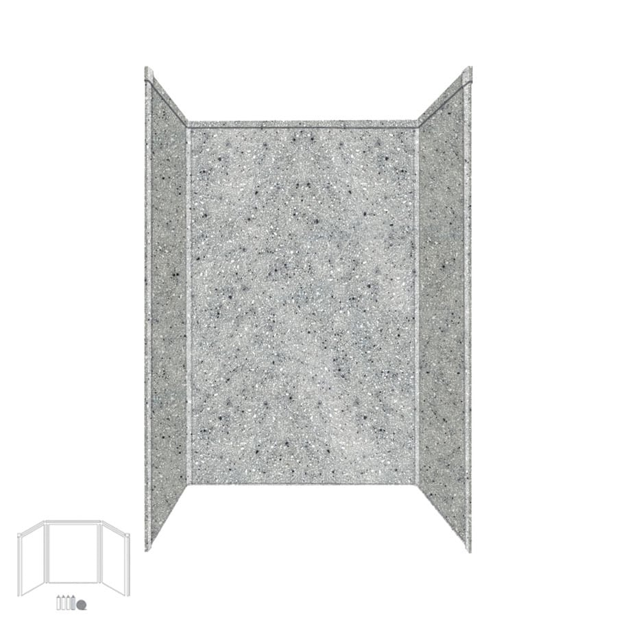 Transolid Decor Matrix Dusk/Stone Shower Wall Surround Side and Back Panels (Common: 32-in; Actual: 72-in x 32-in)