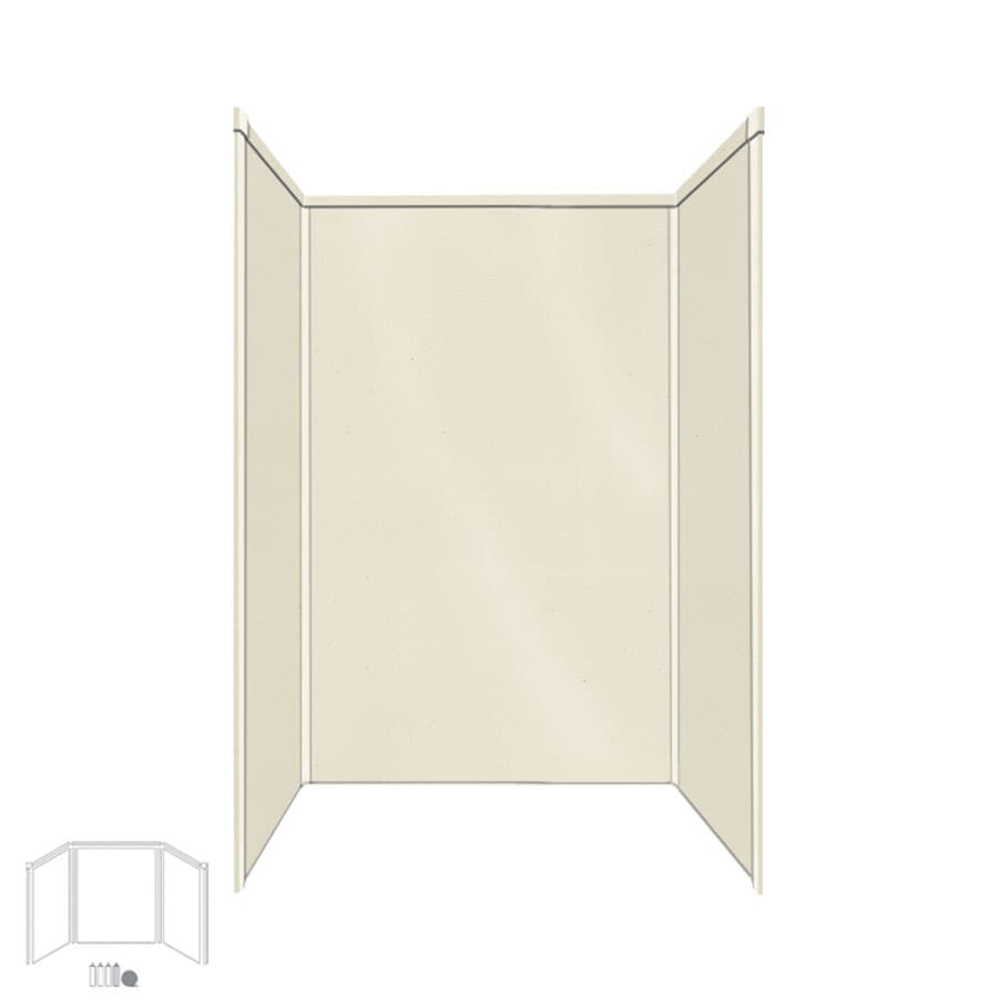Transolid Decor Biscuit/Buff Shower Wall Surround Side and Back Panels (Common: 32-in; Actual: 96-in x 32-in)