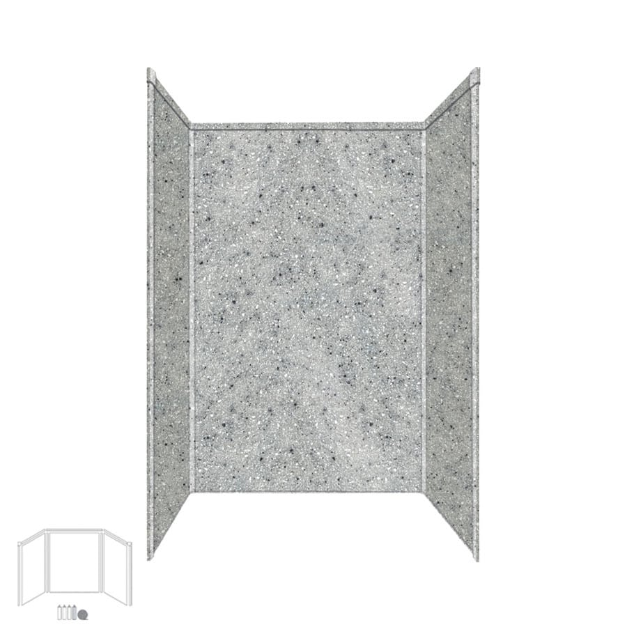Transolid Decor Matrix Dusk/Stone Shower Wall Surround Side and Back Panels (Common: 32-in; Actual: 96-in x 32-in)