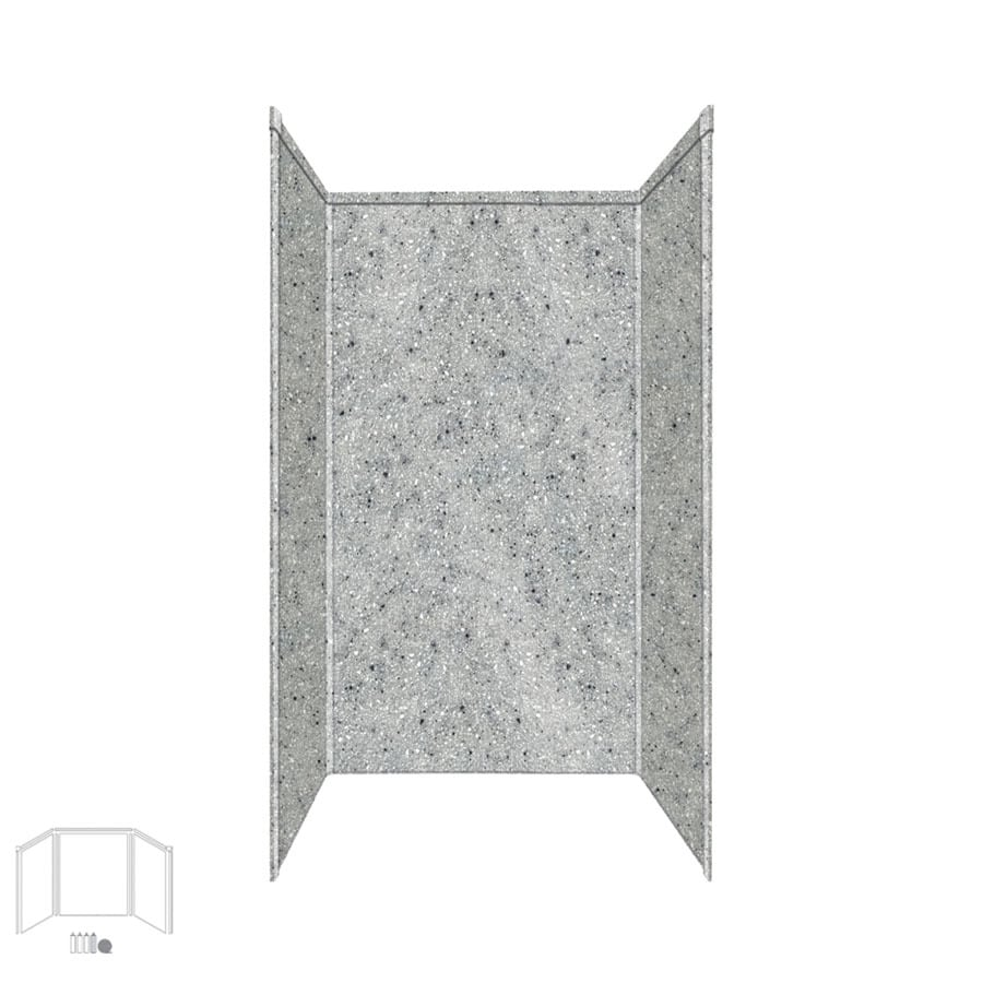 Transolid Decor Matrix Dusk/Stone Shower Wall Surround Side and Back Panels (Common: 34-in; Actual: 72-in x 34-in)
