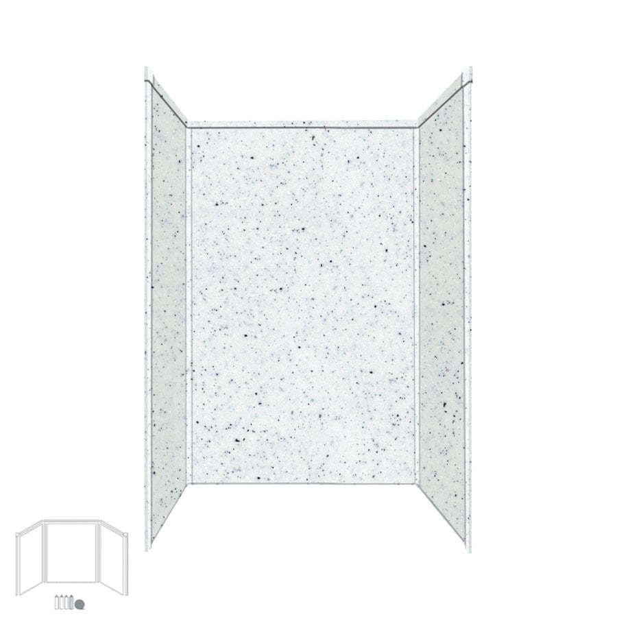 Transolid Decor Matrix White/Speckled White Shower Wall Surround Side and Back Panels (Common: 34-in; Actual: 72-in x 34-in)