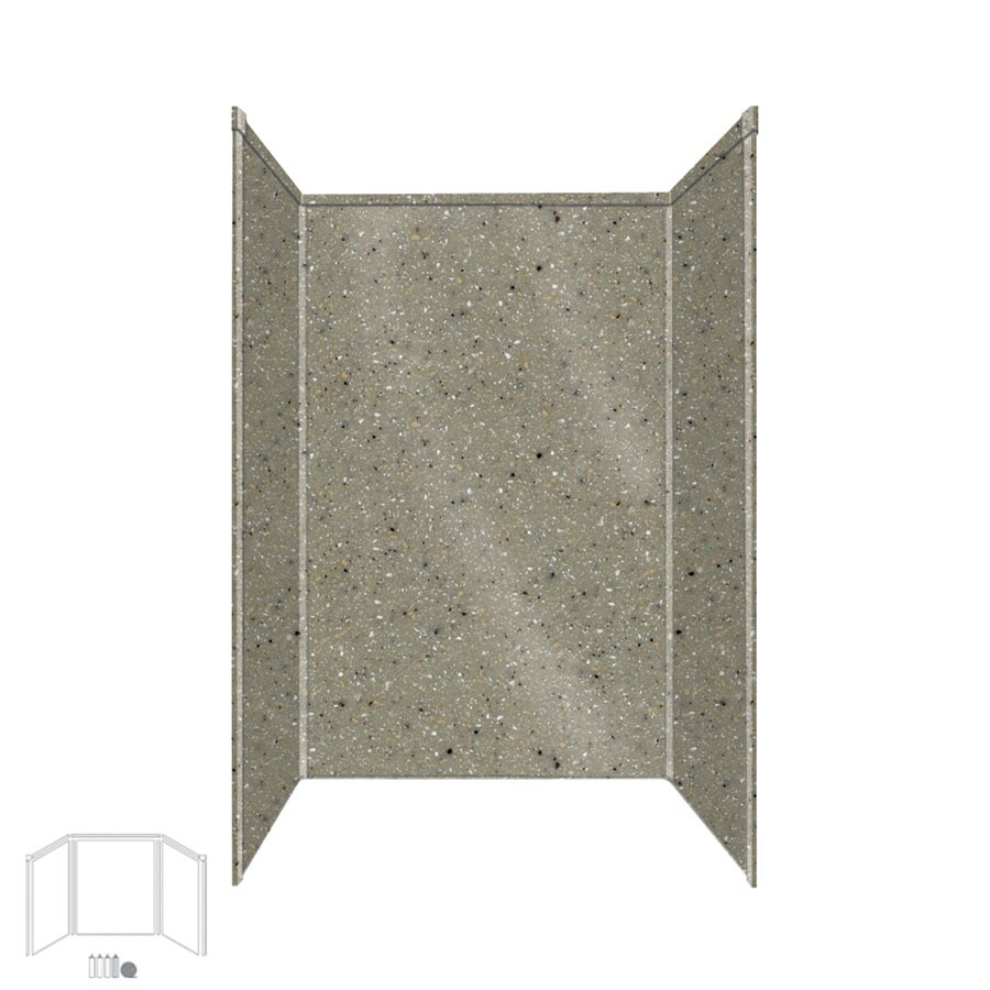 Transolid Decor Peppered Sage Shower Wall Surround Side and Back Panels (Common: 34-in; Actual: 96-in x 34-in)