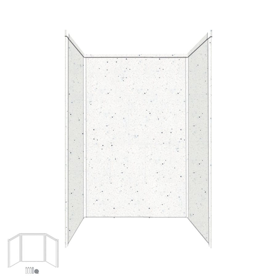Transolid Decor Matrix Summit/Alabaster Shower Wall Surround Side and Back Panels (Common: 34-in; Actual: 96-in x 34-in)