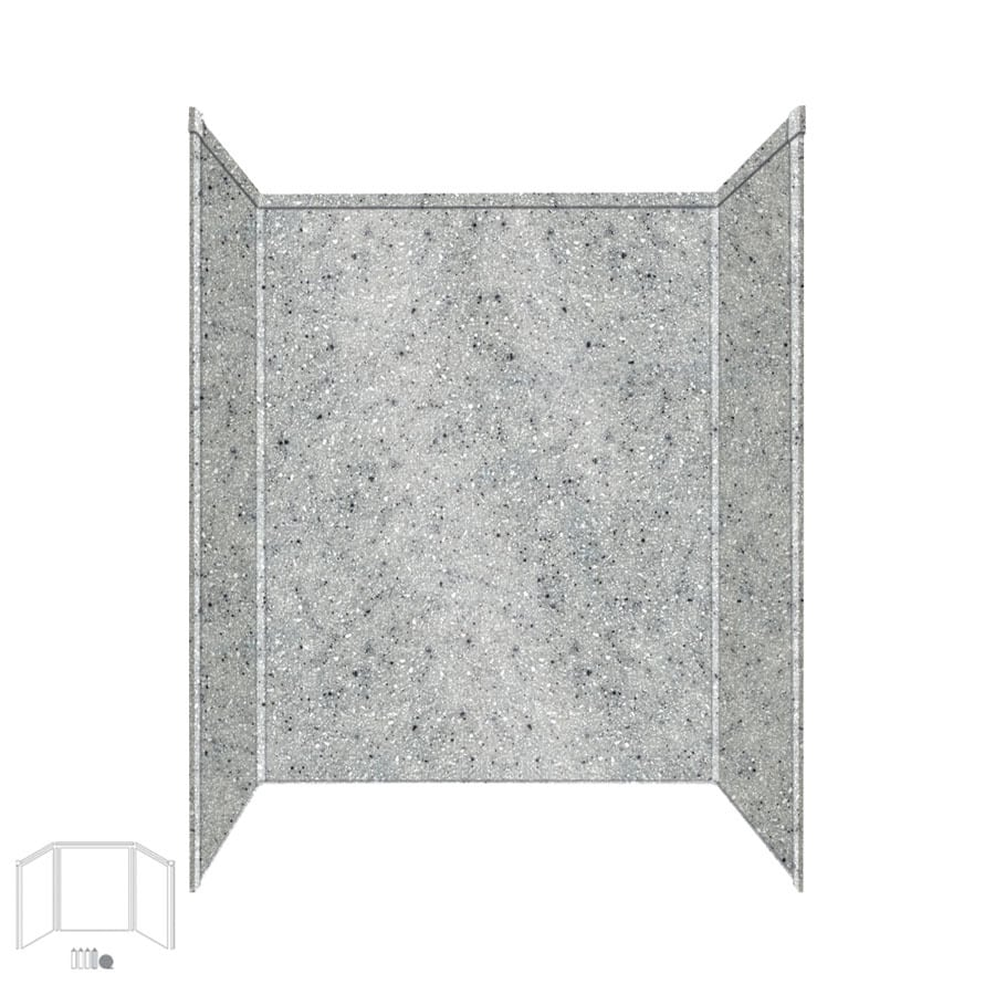 Transolid Decor Matrix Dusk/Stone Shower Wall Surround Side and Back Panels (Common: 34-in; Actual: 96-in x 34-in)