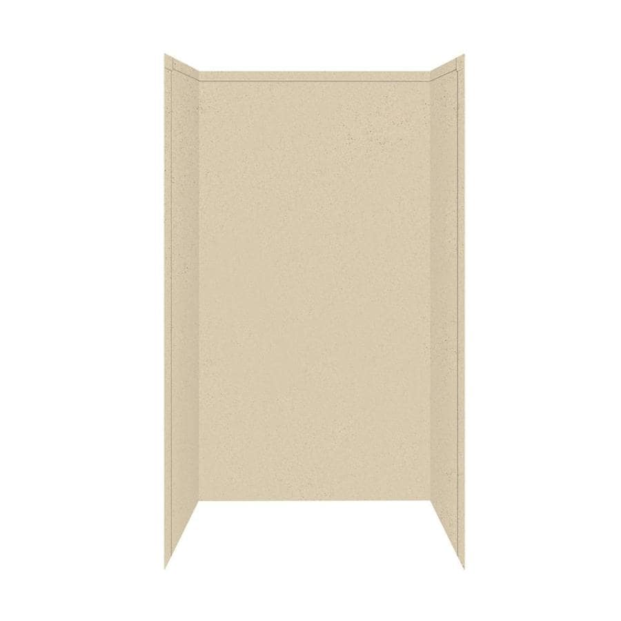 Transolid Decor Matrix Khaki/Sunset Sand Shower Wall Surround Side and Back Panels (Common: 34-in; Actual: 96-in x 34-in)