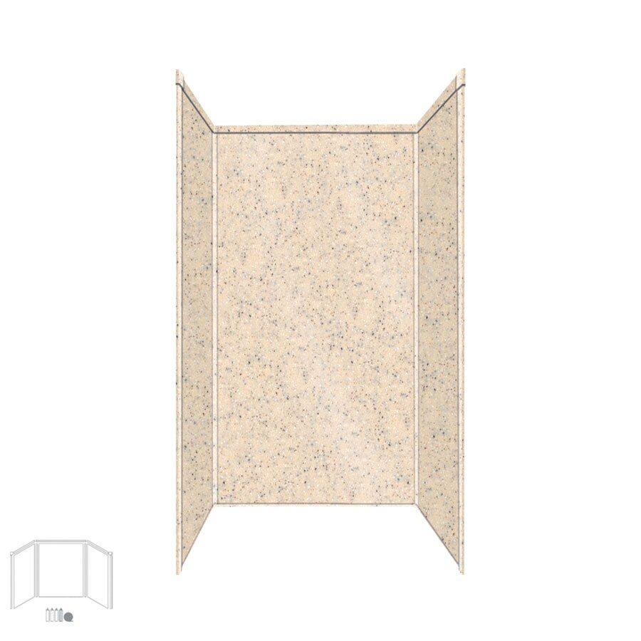 Transolid Decor Matrix Khaki/Sunset Sand Shower Wall Surround Side and Back Panels (Common: 36-in; Actual: 72-in x 36-in)
